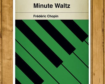 Frédéric Chopin - Minute Waltz - Timeless Classic - Classical Music - Alternative Book Cover Poster (Various sizes available)