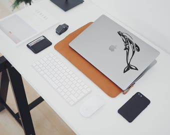 Maori Dolphin Macbook Decal, Decal Sticker, mac, Dolphins, Macbook Sticker, Macbook pro, Macbook air, Macbook Decal Sticker