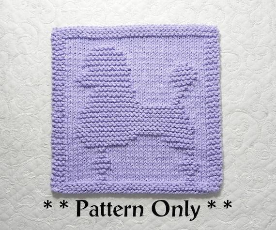 Poodle Dog Knit Dishcloth Pattern Dog Lovers Gift Idea Knit Wash