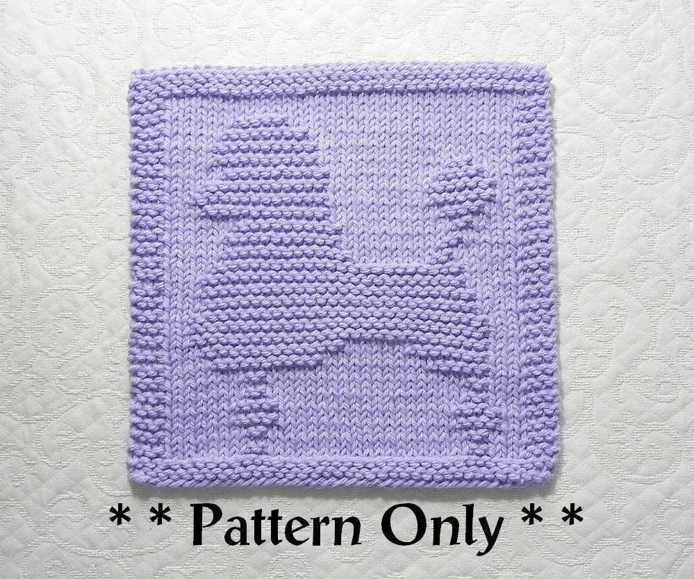 POODLE Dog Knit Dishcloth Pattern, Dog Lovers Gift Idea, Knit Wash ...