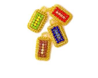 Little Lucent - Handmade Beaded Pendant - bead pendant necklace elegant jewelry fashion accessories - MemetJewelry