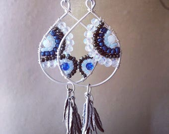 Black and blue hoops