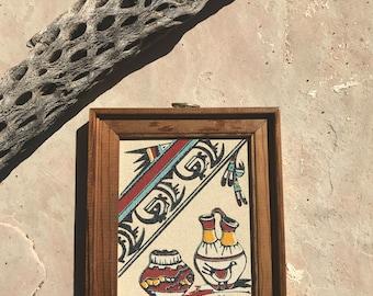 Vintage Pueblo Sand Painting 6x7