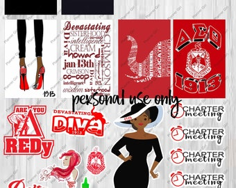 DST Stickers, 1913, greek, divine nine, divas