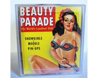pin up girl tissue box cover retro vintage 1950's rockabilly pin up magazine burlesque kitsch