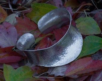 NARROW Anticlastic Sterling Silver Cuff, bangle, bangles, silver bangle, silver bangles, silver bracelet, bracelet, silver, sterling silver