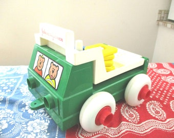 1983 Johnson and Johnson Stack and Dump Truck/Toddler Toy