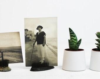 Plage Photo carte postale Vintage, mode étudiant cadeau mode femme Vintage cartes de voeux des années 1920 décorations Français de cartes postales E459