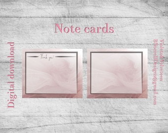 Pink Tulle Note Cards