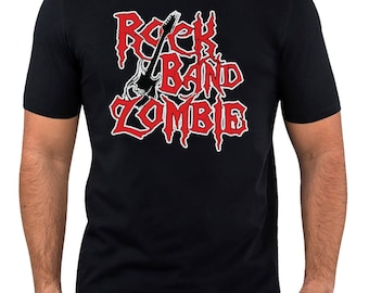 Rock Band Zombie T-Shirt Halloween Comedy T Shirt