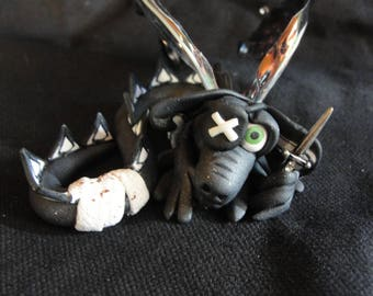 Pirate Dragon - Elemental Dragons OOAK