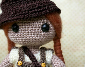 Indiana the adventurous crochet doll/crochet Doll
