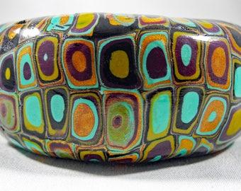 Mod Cane Polymer Clay Cuff Bracelet