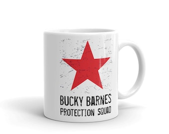 Bucky Barnes Protection Squad Coffee Mug - Winter Soldier - Red Star - Avengers - Fandom - Fangirl