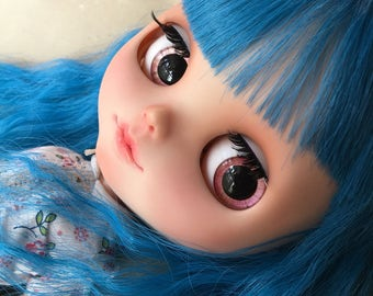 "OOAK SA Hand-painted Handmade 12""Blythe custom eye chips - P17329"