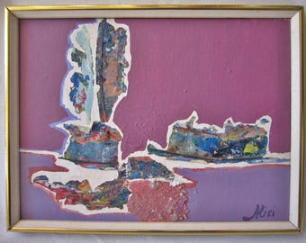 Signed Abstract Painting, Aliki Yepapas