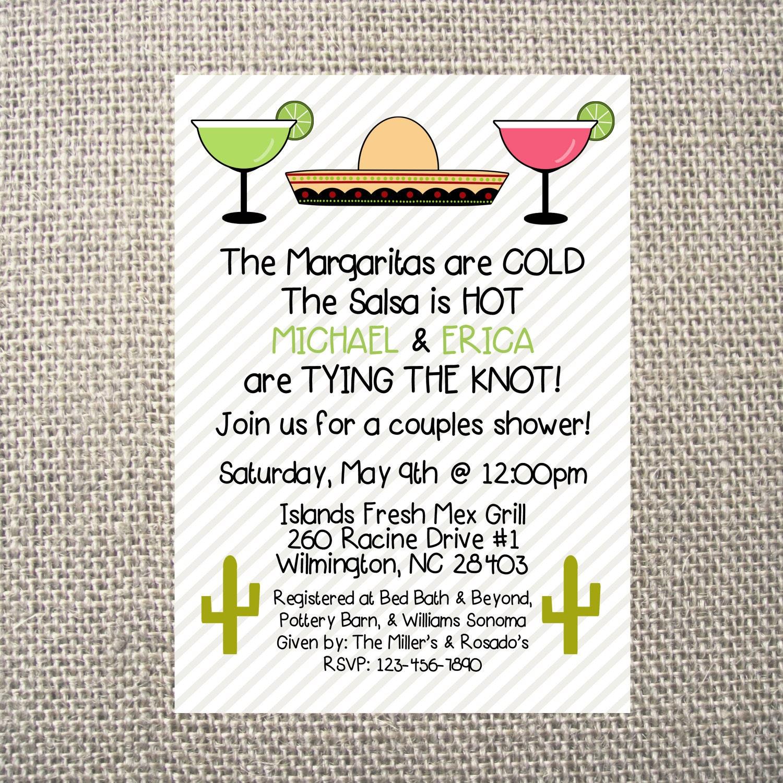 PRINTED or DIGITAL Mexican Fiesta Birthday Rehearsal Wedding Shower ...