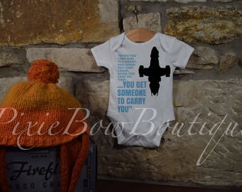Quote baby grow mal walsh zoe jayne SALE 5.99 for 3-6months