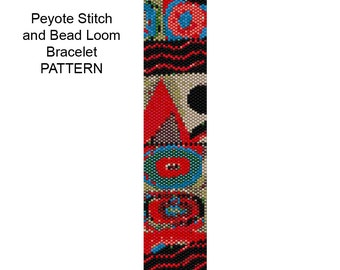 Bracelet Pattern for Loom Weaving or Peyote Stitch  - PP146 Delica Bead Bracelet Pattern