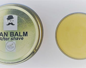 Post Shave MAN BALM. Vegan. With soothing Calendula. 100% Natural Ingredients.