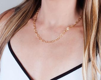 Gold Filled Necklace, Gold Chain Necklace, Lariat Choker, Y Lariat Necklace, Links Necklace, Boho Chic Necklace, Wrap Necklace, Long Chain