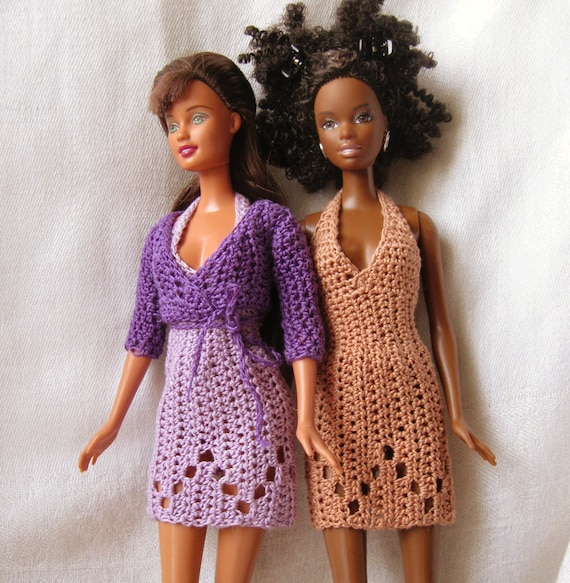 Barbie doll crochet pattern- halter dress and wrap sweater from ...