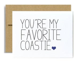 Coast guard greeting card you are my favorite coastie coastguard basic training graduation card coast guard deployment care package card