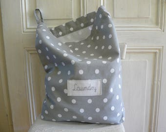 Laundry bag, Big size, Laundry tote, Laundry bag for college, dirty clothes bag, dots bag, 59 cm x 48 cm