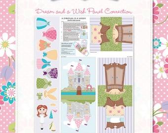 Riley Blake A Dream And A Wish Purple Fabric Panel