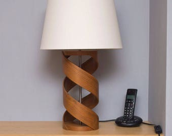 Wooden lamp base etsy wooden table lamp lamp base walnut lamp table lamp bedside lamp aloadofball Images