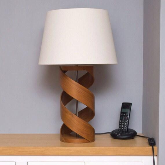 Holz Tischleuchte Lampenfuß Walnuss Lampe Tischlampe