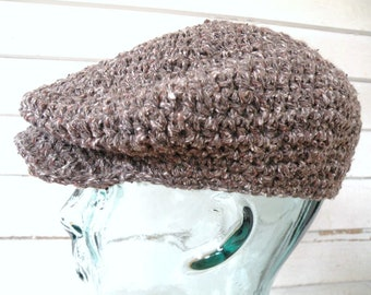 Men's Gray Tweed Flat Cap Irish Newsboy Driver's Hat