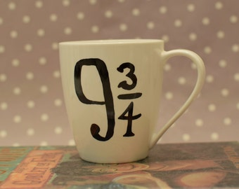 Platform 9 3/4 - Harry Potter Mug - Choice of with or without The Grim inside