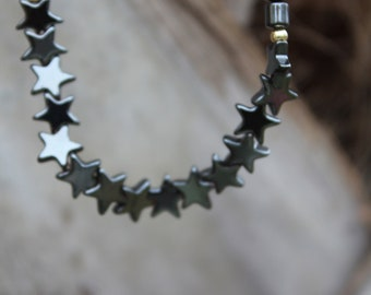Healing Hematite Stars Necklace
