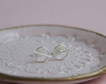 Silver Satellite Stud Earrings