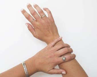 Kingman Turquoise Ring // Gemstone Ring // Sterling Silver // Made to Order