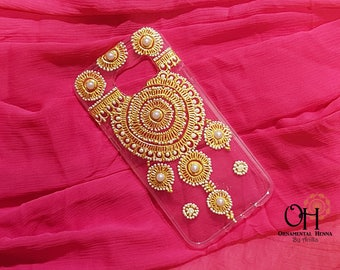 Bridal Phone Case, Hand Painted - Iphone/Samsung Galaxy
