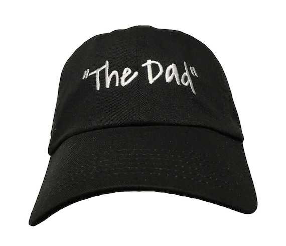 The Dad - Polo Style Ball Cap (Black with White Stitching)