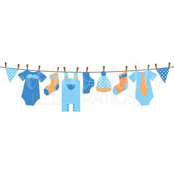 baby boy clothesline cute digital clipart boy clothesline rh etsy com baby girl clothesline clipart baby clothes clothesline clipart