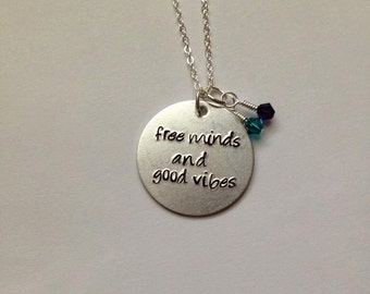 Custom Quote Hand-Stamped Necklace