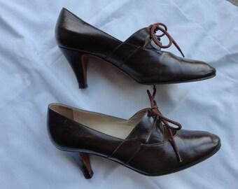 Vintage Divarese Italian leather shoes Brown size 36 1/2