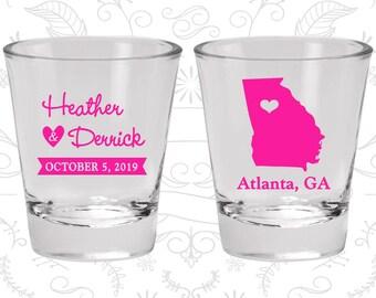 Georgia Shot Glass, Georgia Shot Glasses, Georgia Glass, Georgia Glasses, Georgia Glassware (109)