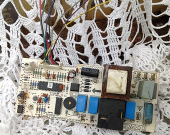 Circuit Board Altered Art Mixed Media Industrial Decor NonWorking Finding