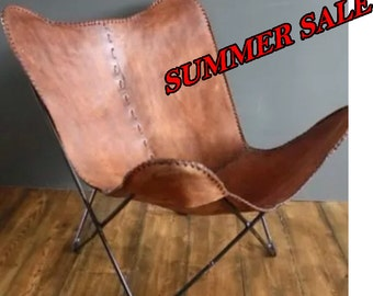 Hand Made Butterfly Chair , Leather Chair