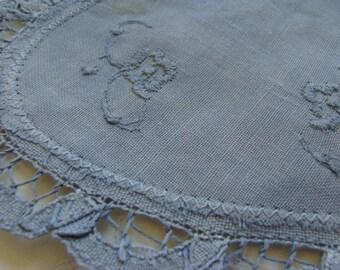 Vintage Blue Embroidered Dollie