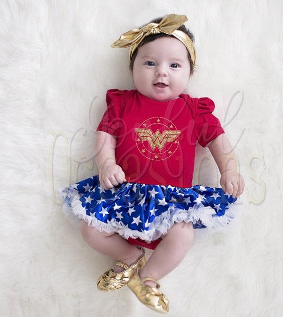 Like this item?  sc 1 st  Etsy & Baby Girl Wonder Woman Tutu Dress Cute 2pc Superhero