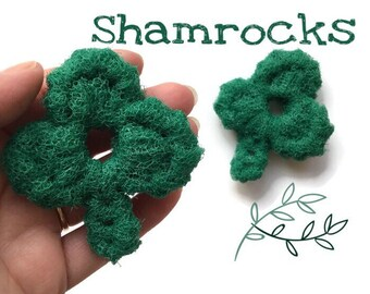 Shamrock Dish Scrubbies, 3-Leaf Clover Crochet Scrubbies,Set of 3 through 8 Shamrock Scrubbies,St. Patrick's Day Scrubbies,Hostess Gift