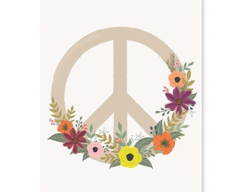 Peace Flower Art Print - available in 8x10 or 11x14