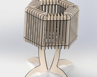 Wooden Table Lamp. Fixture Can Be Included. Various Designs Available!