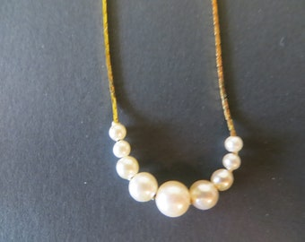 Napier Pearl Slide Necklace